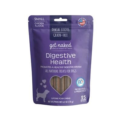 Get Naked Digestive Health Dental Grain-Free Chew Sticks Dog Treats, Small