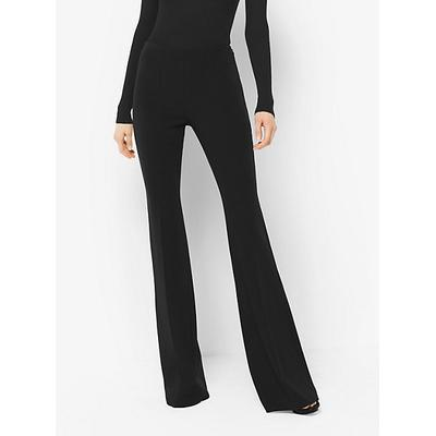 Michael Kors Collection Flared Stretch-Wool Trousers Black 2