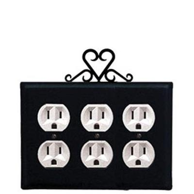 Heart - Triple Outlet Cover
