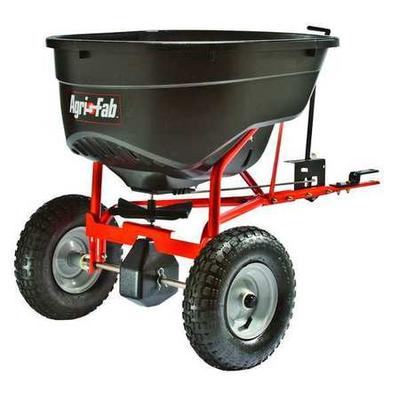 Lawn spreaders make it easy to spread grass seed, fertilizer and weed killer on any size lawn. Here are some important details for Agri-Fab Tow Broadcast Spreader. Capacity: 130 lb., For Use With: Grass Seed, Fertilizer, and Salt, Spread Width: 10 ft..