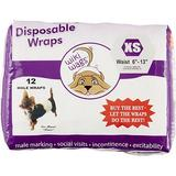 Wiki Wags 12 Disposable Male Dog Wraps, X-Small