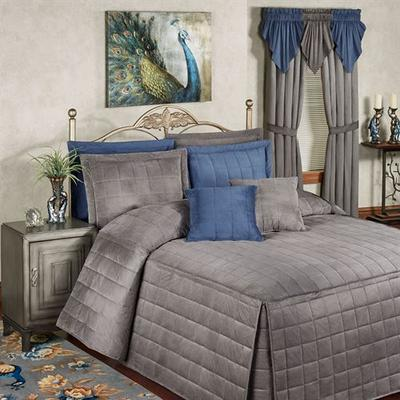 Camden Grande Fitted Bedspread Charcoal, California King 24