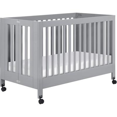Babyletto Maki Full-Size Folding Portable Crib - Grey