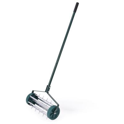 This heavy duty green rolling garden lawn aerator roller will be loved by the gardening people. The easy-rolling lawn aerator lets air, water and nutrients reach grass roots for a greener, more beautiful lawn.