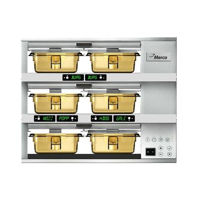 Merco Savory MHG32SAB1N 6 Pan Countertop Heated Holding Cabinet - Stainless, 208 230v/1ph