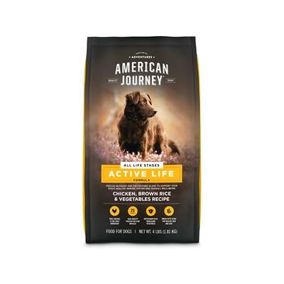 American Journey Chicken & Brown Rice Protein First Recipe Dry Dog Food, 4-lb bag