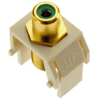 OnQ Keystone Green RCA To F-Connector, White on Sale