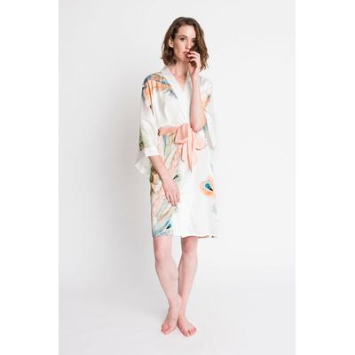 Peacock Feather Kimono Robe