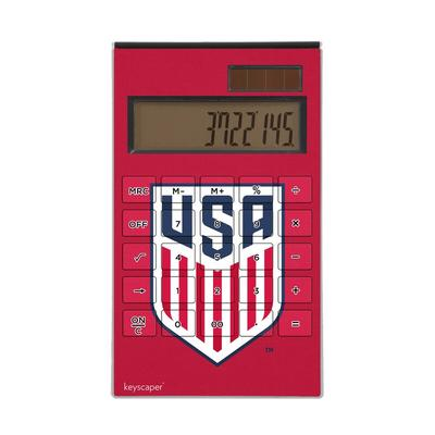 US Soccer Desktop Calculator - Red