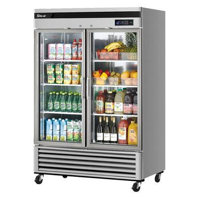 Turbo Air TSR-49GSD-N 54.38 Two Section Reach In Refrigerator, (2) Left/Right Hinge Glass Doors, 115v on Sale