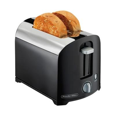 Hamilton Beach 22622 2 Slice Toaster w/ Shade Selector Dial, Black/Chrome on Sale