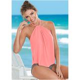 High Neck Flounce One-Piece One-Piece Swimsuits & Monokinis - Brown/pink