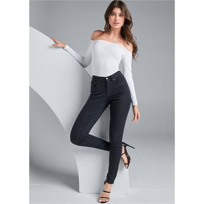 Color Skinny Jeans Jeans - Black