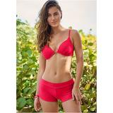 Enhancer Push UP BRA Push-Up Bikini Tops - RED