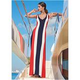 Color Block Maxi Dress Dresses - Red/yellow/orange/purple/white/black/green/blue