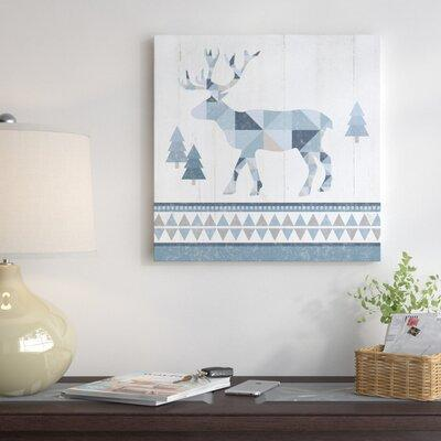 Millwood Pines Nordic Geo Lodge Deer Iv Graphic Art Print On Wrapped Canvas Canvas Fabric In Brown Blue Size 12 H X 12 W X 0 75 D Wayfair Shefinds