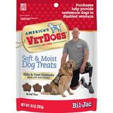 Bil-Jac America's VetDogs Skin & Coat Dog Treats, 10-oz bag