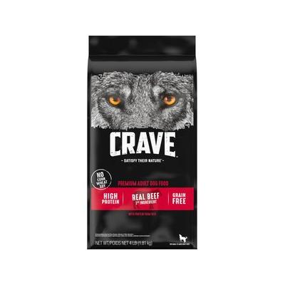 Crave High Protein Beef Adult Grain-Free Dry Dog Food, 4-lb bag