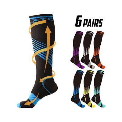 68% PRICE DROP: Sport Compression Knee-High Socks - 6 Pair