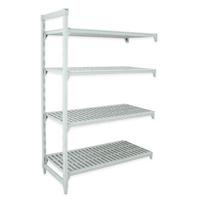 Cambro CPA217284V4PKG Polymer Louvered Add-On Shelving Unit - 72L x 21W x 84H on Sale