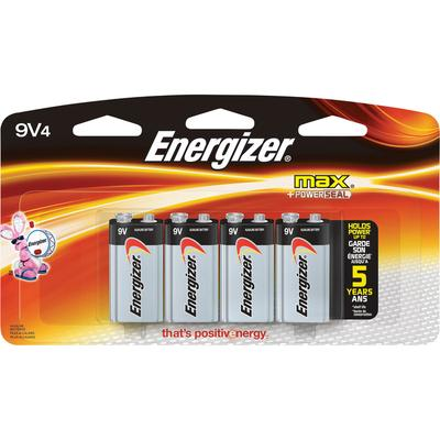 Energizer Alkaline 9 Volt Batteries - 4-Pack, Model 522BP-4H
