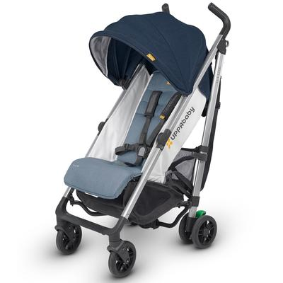 UPPAbaby 2018 G-Luxe Stroller - Aidan (Denim/Orange Stitch/Silver)