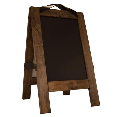 Risch TALKERFLOOR CHALK MAGNET Double-Sided Magnetic Chalkboard Easel - 16 x 26, Pine on Sale
