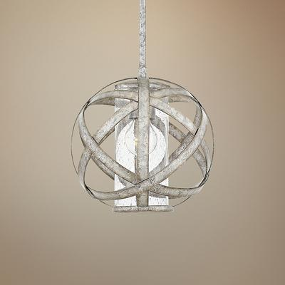 "Hinkley Carson 10"" Wide Weathered Zinc Outdoor Mini Pendant"