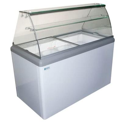Excellence Industries HBD-6HC 43.5 Stand Alone Ice Cream Dipping Cabinet w/ 10 Tub Capacity - White, 115v on Sale