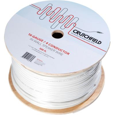 Crutchfield 16 Gauge In-Wall 4 Conductor Wire, 500 Foot Roll on Sale