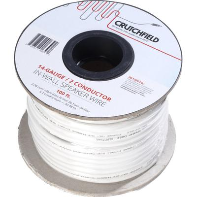 Crutchfield 14 Gauge In-Wall 2 Conductor Wire, 100 Foot Roll