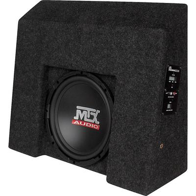 "MTX T-form 07-up Chevy 1500 CrewCab Black w/ 10"" Sub and Amp"