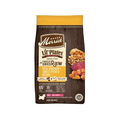 Merrick Lil' Plates Grain-Free Chicken & Sweet Potato Recipe with Freeze-Dried Raw Bites Dry Dog Food, 10-lb bag