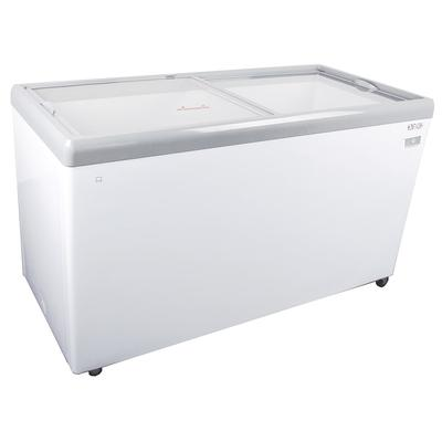 Kelvinator Commercial KCNF140WH 59.5 Mobile Ice Cream Freezer w/ Wire Storage Basket - White, 120v on Sale