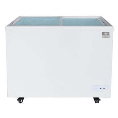 Kelvinator Commercial KCNF073WS 37.81 Mobile Ice Cream Freezer w/ Wire Storage Basket - White, 120v on Sale