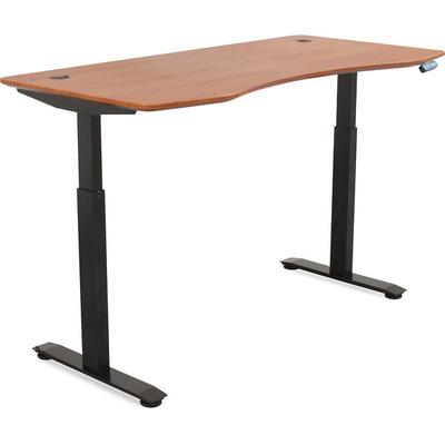 MotionWise SDD60R Motorized Lift Desk -Deep Mahogany