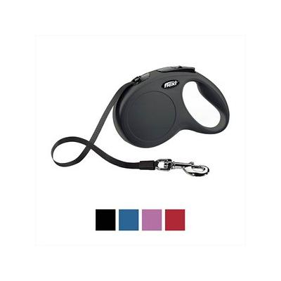 Flexi Classic Retractable Tape Dog Leash, Black, Medium, 16-ft; Enjoy superior control and security with the Flexi Classic Retractable Tape Dog Leash. Because there are moments when a split second can change everything, this leash features a design...