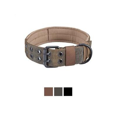 OneTigris Military Dog Collar, Coyote Brown, Large