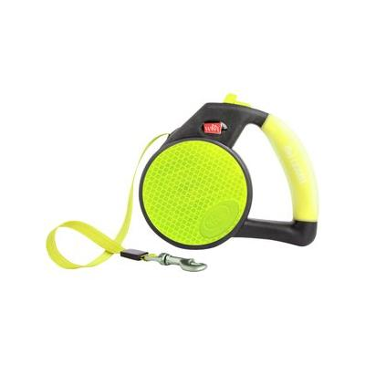 Wigzi Reflective Retractable Gel Leash, Yellow, Medium; Wigzi Reflective Retractable Gel Leash features a durable soft-gel handle that provides superior comfort on every adventure with your furry friend — from short runs to long hikes, and more!...