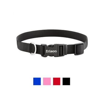Frisco Solid Nylon Dog Collar, Black, Large; **Remember to measure your pet for the paw-fect fit.** The Frisco Solid Nylon Dog Collar is a classic yet stylish collar that comes in a variety of colors and sizes so you can find just the right one for...