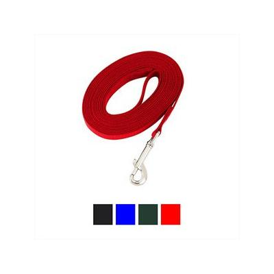 Guardian Gear Cotton Web Training Dog Lead, 20-ft, Red