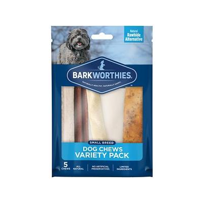 Barkworthies Small Breed Variety Pack Natural Dog Chews, 5 count