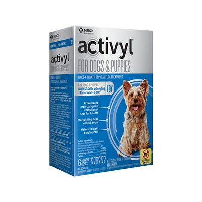 Activyl - Activyl Flea Treatment for Toy Dogs & Puppies, 4-14 lbs, 6 treatments