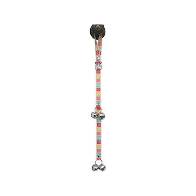 PoochieBells The Original Dog Training Potty Doorbell, Bone Appetite Pink