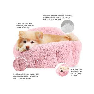 Best Friends by Sheri OrthoComfort Sherpa Deep Dish Cuddler Dog & Cat Bed, Pink