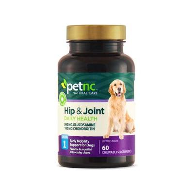 PetNC Natural Care Hip & Joint Daily Health Level 1 Chewable Tablet Dog Supplement, 60 count
