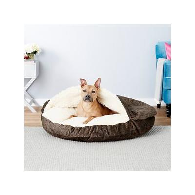 Snoozer Pet Products Microsuede Cozy Cave Dog & Cat Bed, Laurel Mocha, X-Large