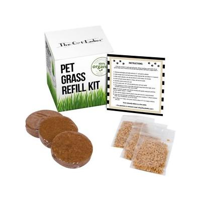 The Cat Ladies Organic Pet Grass Refill Kit