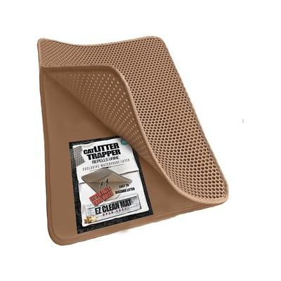 iPrimio Cat Litter Trapper EZ Clean Mat, Brown/Tan, Large