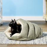 Ethical Pet Sleep Zone Cuddle Cave Cat & Dog Bed, 22-in, Sage